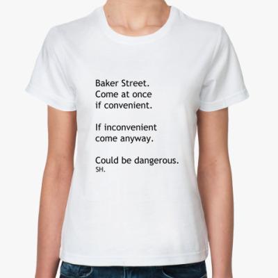 Классическая футболка СМС Шерлок