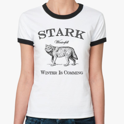Женская футболка Ringer-T Stark