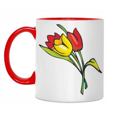 Кружка Тюльпаны