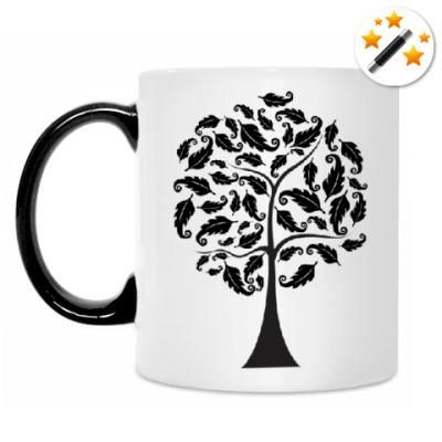 Кружка-хамелеон Стильное дерево