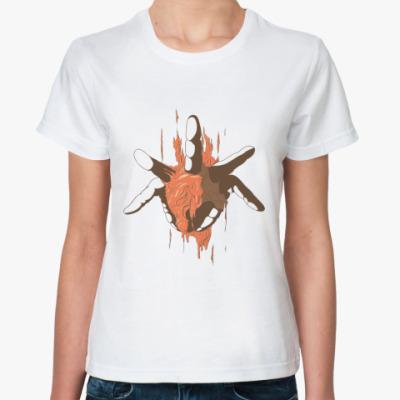 Классическая футболка  'Рука из груди'