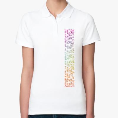 Женская рубашка поло  'День велосипедиста'