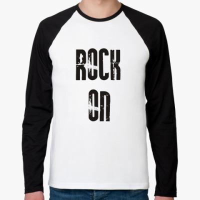 Футболка реглан с длинным рукавом Rock on