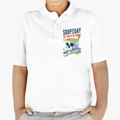 Детская рубашка поло Меню победителя - суп дня