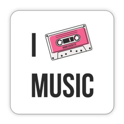 Костер (подставка под кружку) I Love Music
