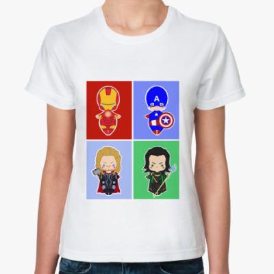 Классическая футболка Мстители (Avengers)