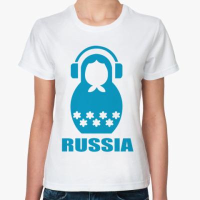 Классическая футболка  Russia Doll