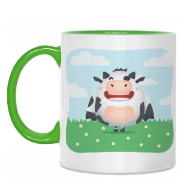Кружка С коровкой