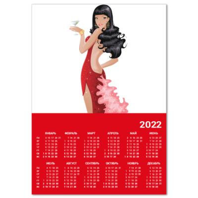 Календарь  A4 Девушка №26*11