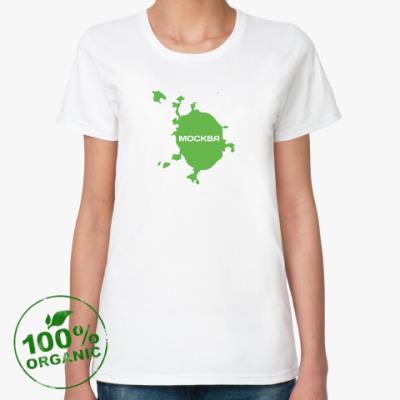 Женская футболка из органик-хлопка Москва