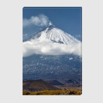 Холст Ключевской вулкан, Камчатка