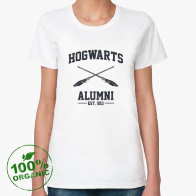 Женская футболка из органик-хлопка Hogwarts Alumni
