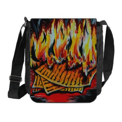 Сумка на плечо (мини-планшет) Огонь практик