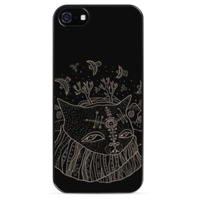 Чехол для iPhone Кот Савелий и птицы