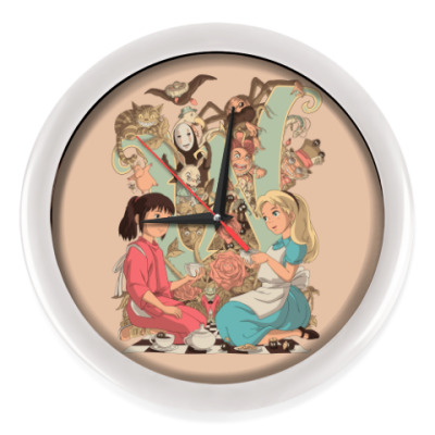 Настенные часы Wonderland Alice and Chihiro
