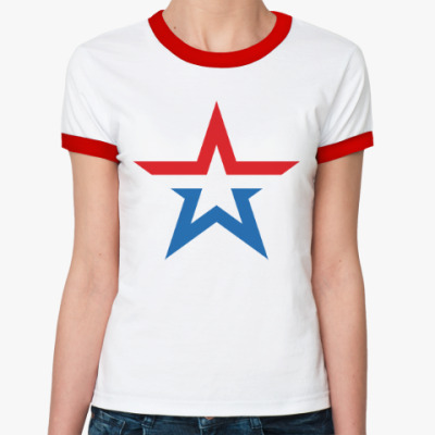 Женская футболка Ringer-T Армия России
