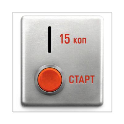 Наклейка (стикер) Кнопка запуска