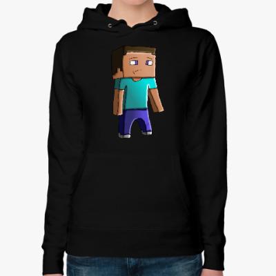 Женская толстовка худи Minecraft Steve