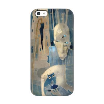 Чехол для iPhone 5c Человек с котятами