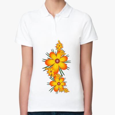 Женская рубашка поло Огнецветы