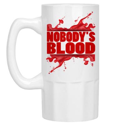 Пивная кружка Nobody's Blood