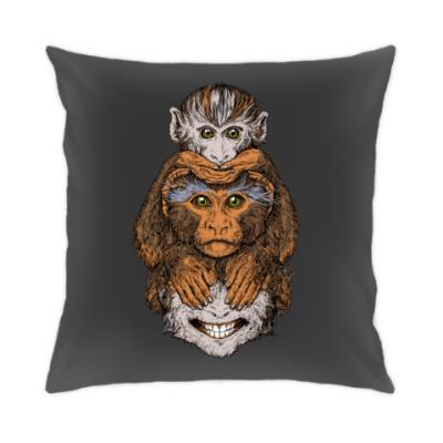 Подушка Три обезьяны символ года