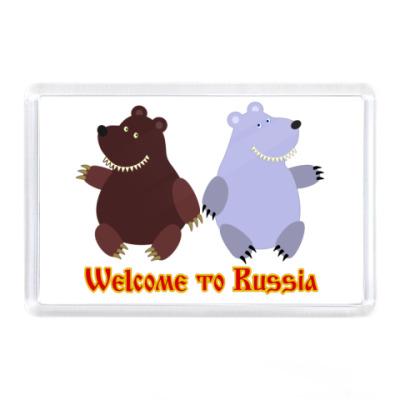 Магнит Russian bears