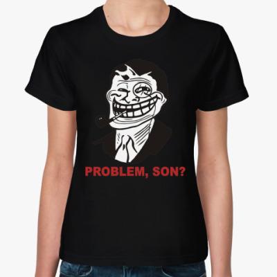 Женская футболка Trolldad