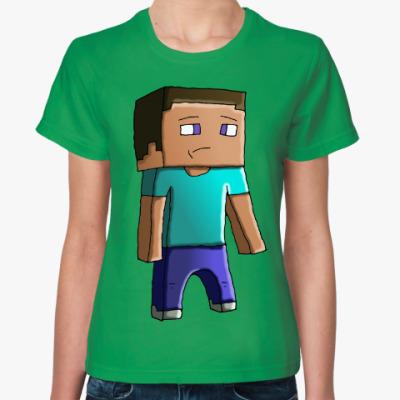 Женская футболка Minecraft Steve