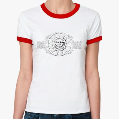 Женская футболка Ringer-T Русь, Россия