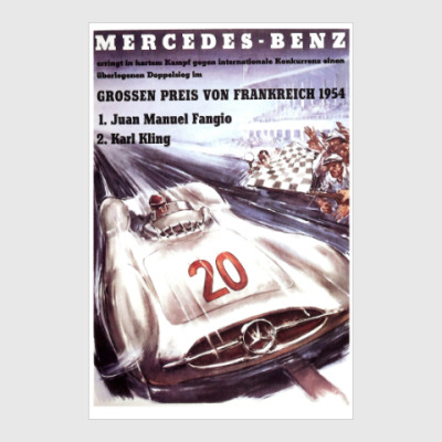 Постер Mercedes-Benz. Фанхио и Клинг.