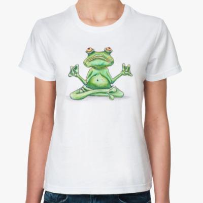 Классическая футболка Жаба йог
