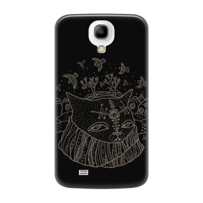 Чехол для Samsung Galaxy S4 Кот Савелий и птицы