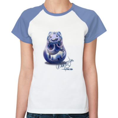 Женская футболка реглан Время приключений - Матрешка Ф