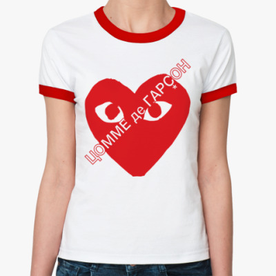 Женская футболка Ringer-T ЦОММЕ де ГАРÇОН