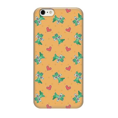 Чехол для iPhone 6/6s Crocodile and Heart