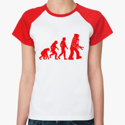 Женская футболка реглан  'Robot Evolution'