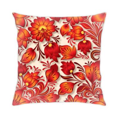 Подушка цветы фэнтези