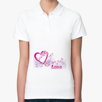 Женская рубашка поло Сердце