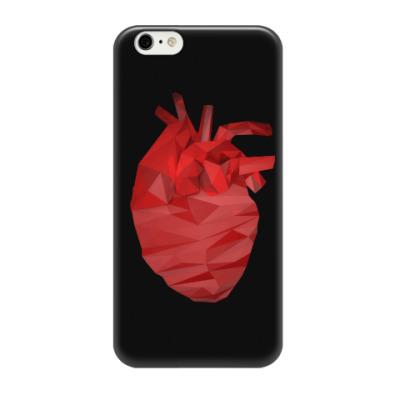 Чехол для iPhone 6/6s Сердце 3D