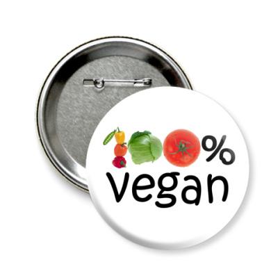 Значок 58мм вегетарианство