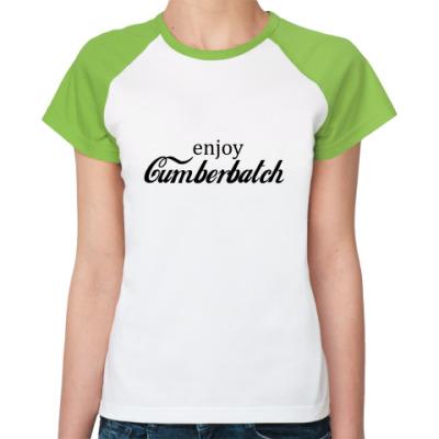 Женская футболка реглан Cumberbatch