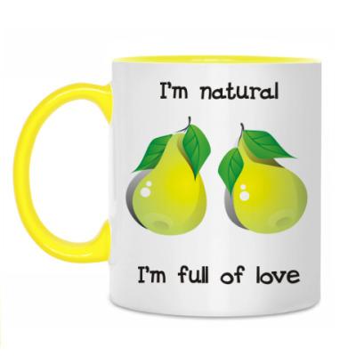 Кружка I'm natural, I'm full of love