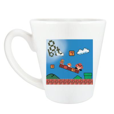 Чашка Латте mario 8 bit
