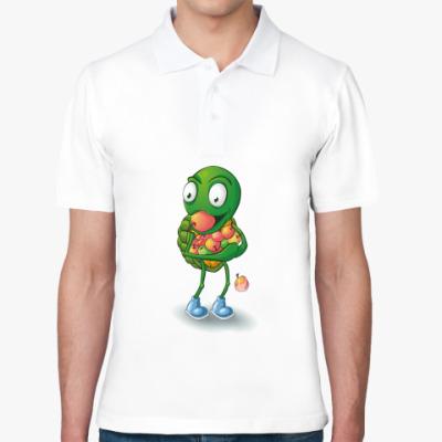 Рубашка поло Добрый Черепашонок с яблоками
