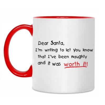 Кружка Dear Santa, I've been naughty