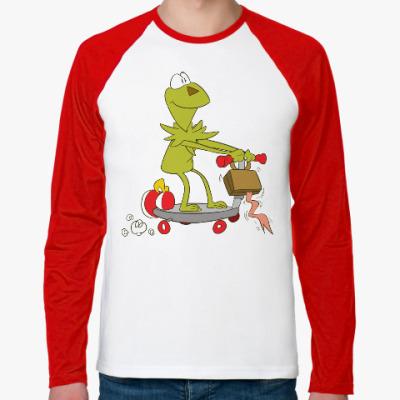 Футболка реглан с длинным рукавом Kermit the Frog