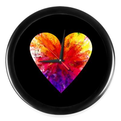 Настенные часы Сердечко