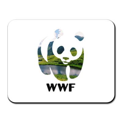 Коврик для мыши WWF. Панда. Природа