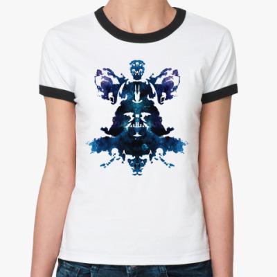 Женская футболка Ringer-T Darth Vader (Дарт Вейдер)